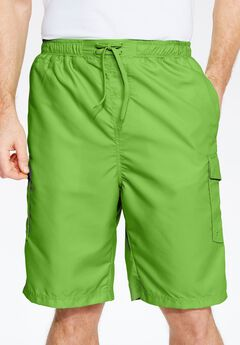 Double Stripe Boardshorts, LIME, hi-res