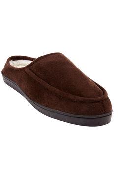 Microsuede Clog Slippers, BROWN