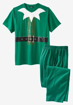 Holiday Pajama Set, ELF SUIT