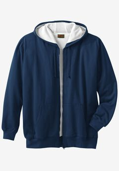 Thermal Lined Full-Zip Hoodie by Boulder Creek®, NAVY