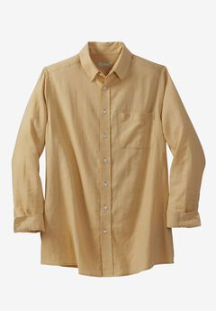 Linen Blend Dress Shirt by KS Island™,