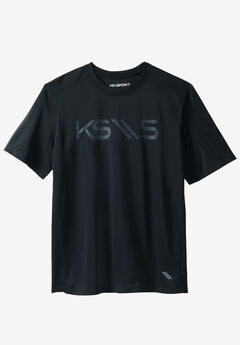 Charger Series Logo Crewneck Tee by KS Sport™, BLACK, hi-res
