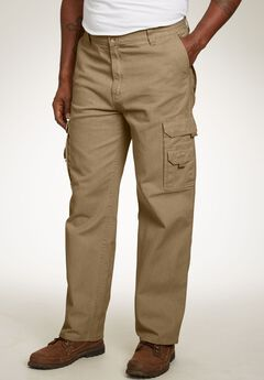 Marine Cargo Pants by Boulder Creek®, DARK KHAKI DENIM, hi-res