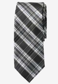 Classic Plaid Tie, BLACK PLAID, hi-res