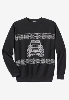 Festive Fleece Crewneck, TRUCK
