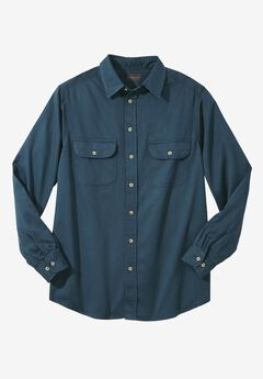 Long-Sleeve Renegade Shirt by Boulder Creek®, BLUE INDIGO, hi-res