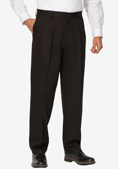 Signature Pleated Stretch Khakis by Dockers®, BLACK, hi-res
