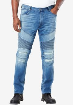 Moto Jeans by MVP Collections®, INDIGO WASH, hi-res