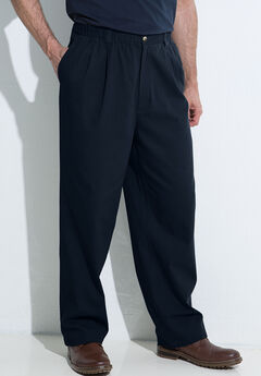 Knockarounds® Pleated Pants in Twill or Denim, NAVY, hi-res