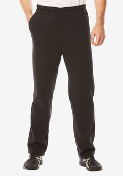 Explorer Fleece Zipper Fly Pants, BLACK, hi-res