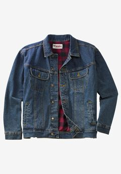Blanket-Lined Denim Jacket by Wrangler®,