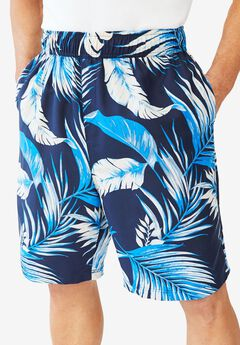 KS Island™ Printed Swim Trunks, NAVY PALM