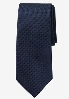 Extra Long Solid Tie by KS Signature, MIDNIGHT NAVY