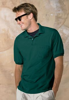 Hanes® ComfortBlend EcoSmart Jersey Polo with Pocket,