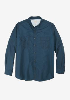 Off-Shore Long-Sleeve Sport Shirt by Boulder Creek®, BLUE INDIGO, hi-res