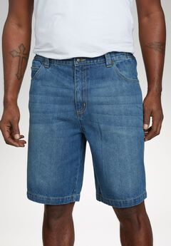 5 Pocket Denim Shorts by Liberty Blues®, BLUE WASH, hi-res