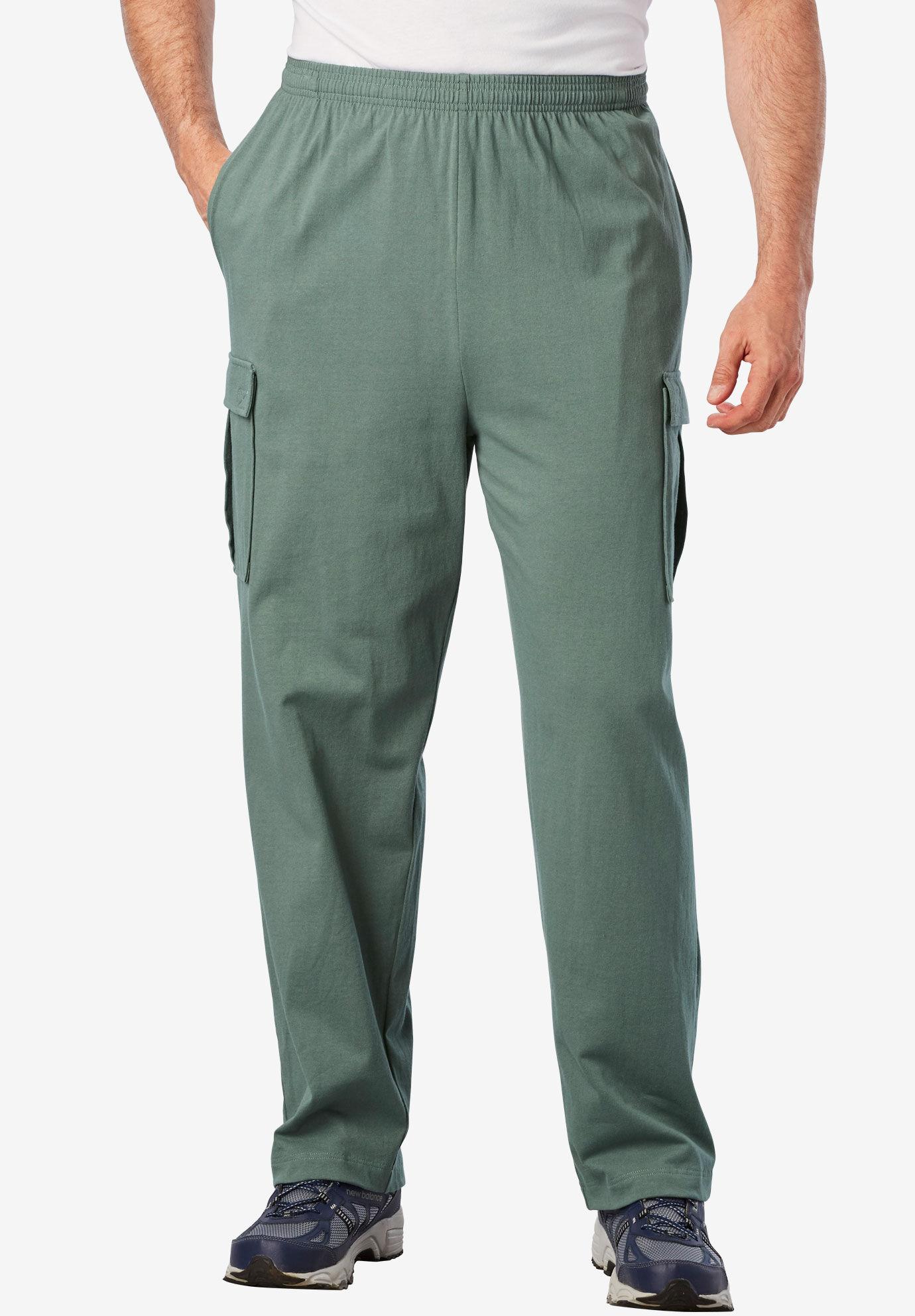 KingSize Mens Big /& Tall Performance Jersey Pants