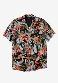 KS Island™ Tropical Caribbean Camp Shirt ,