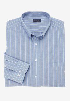 Wrinkle-Resistant Oxford Dress Shirt by KS Signature, ROYAL STRIPE
