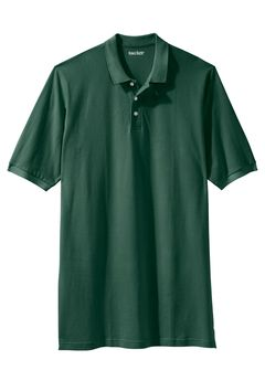 Longer-Length Short-Sleeve Piqué Polo , HUNTER