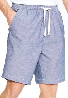 Chambray Shorts by KS Island™, INDIGO, hi-res