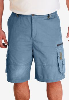Ripstop Expedition Cargo Shorts by Boulder Creek®, SLATE BLUE, hi-res