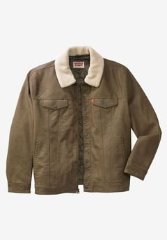 Classic Faux Leather Trucker Jacket by Levis®,