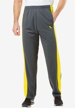 Power Wicking Pants by KS Sport™, STEEL NEON YELLOW, hi-res