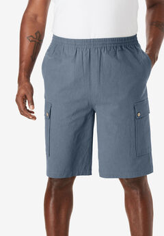 95ccfecc244 Gauze Cotton Cargo Shorts with Inside Drawstring