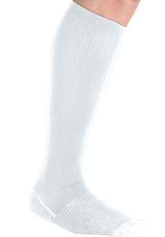 Over-the-Calf Compression Socks, WHITE, hi-res