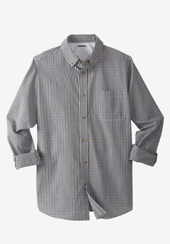 Shrink-Less™ Long-Sleeve Sport Shirt, MULTI CHECK