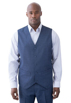 Easy Movement 5 Button Suit Vest by KS Signature,