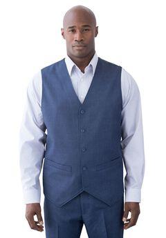 Easy Movement 5 Button Suit Vest by KS Signature, NAVY PINDOT, hi-res