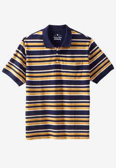 Classic Fit Stretch Polo by Liberty Blues®, GOLDEN YELLOW MULTI STRIPE, hi-res