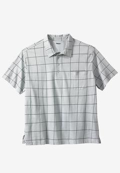 Golf Polo With Pocket, LIGHT GREY WINDOW PANE, hi-res