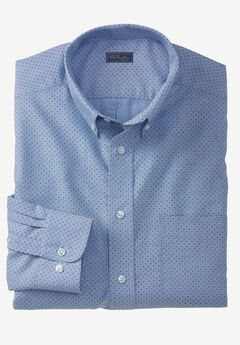 Wrinkle-Resistant Oxford Dress Shirt by KS Signature, BLUE PINDOT