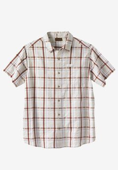 Lightweight Expedition Plaid Shirt by Boulder Creek®, STONE PLAID, hi-res
