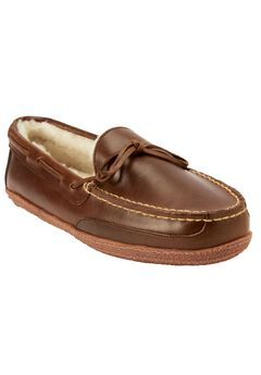 Shearling-Lined Camp Moccasins,