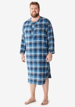 Plaid Flannel Nightshirt,