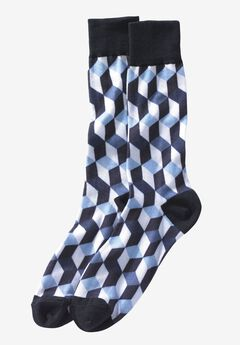Novelty Dress Socks, BLACK BOX