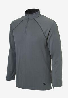 Grid Technology 1/4-Zip Sweat Jacket by KS Sport™, STEEL BLACK, hi-res
