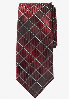 Extra Long Check Tie by KS Signature,