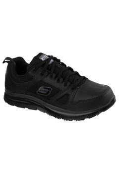 Work Relaxed Fit Flex Advantage Slip-Resistant Sneaker by Skechers®, BLACK, hi-res