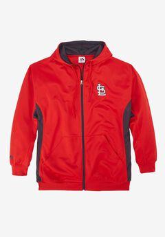 MLB® Logo Colorblock Zip Front Sweatshirt, CARDINALS, hi-res