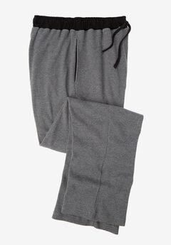 Heavyweight Thermal Waffle Pajama Pants, HEATHER SLATE, hi-res