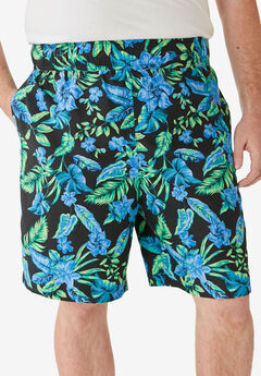 KS Island™ Printed Swim Trunks, BRIGHT BLUE FLORAL
