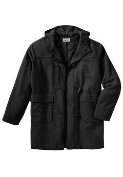 Toggle Parka Coat, BLACK, hi-res