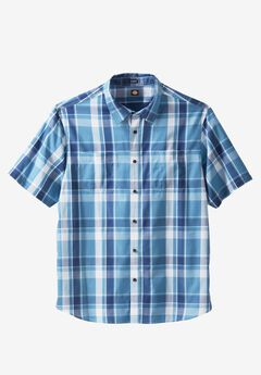 Relaxed Fit Icon Shirt by Dickies®, TONAL BLUE PLAID, hi-res