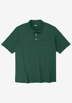 Shrink-Less™  Lightweight Short-Sleeve Polo Tee, HUNTER