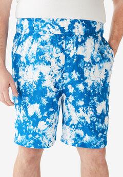 KS Island™ Printed Swim Trunks, ROYAL BLUE MARBLE